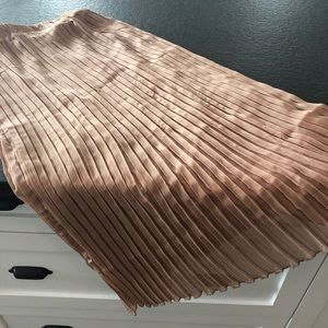Dresses & Skirts - A-line Beige Pleated Skirt — Brand New